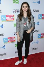 Lily Collins At Telethon For America at YouTube Space LA