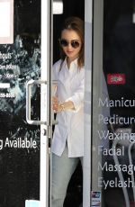 Lily Collins Leaving from a nail salon in Los Angeles