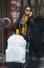 Lily James At the Bowery Hotel in New York