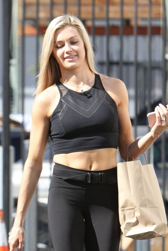 Lindsay Arnold Outside Dancing With The Stars rehearsal studios in Los Angeles