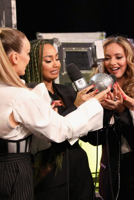 Little Mix Backstage during the MTV EMAs 2018 at Bilbao Exhibition Centre in Bilbao, Spain