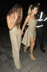 Little Mix Leaving The May Fair Hotel in London and heading to their Album Launch Party