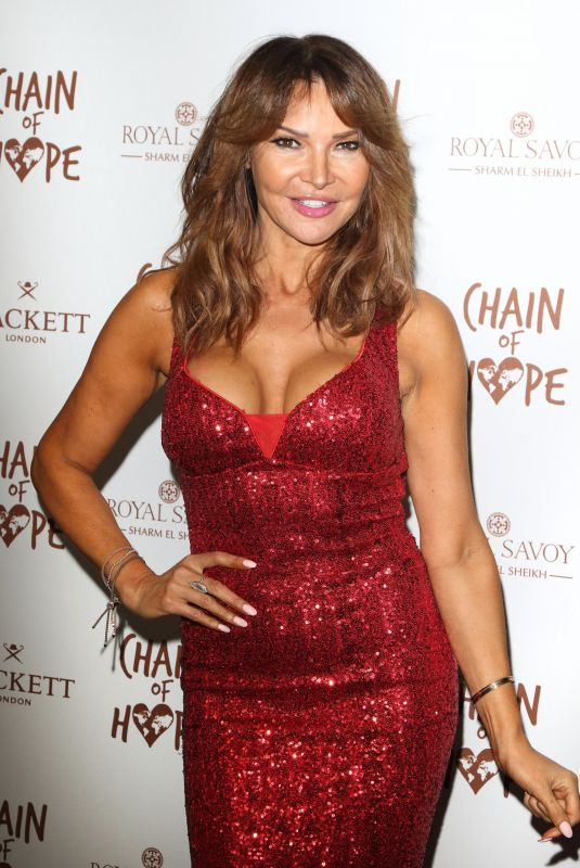 Lizzie Cundy At Chain Of Hope Ball at Old Billingsgate, Lower Thames Street in London