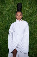 Logan Browning At CFDA/Vogue Fashion Fund 15th Anniversary Event in Brooklyn