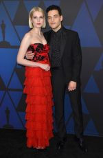 Lucy Boynton & Rami Malek At 10th annual Governors Awards in Hollywood