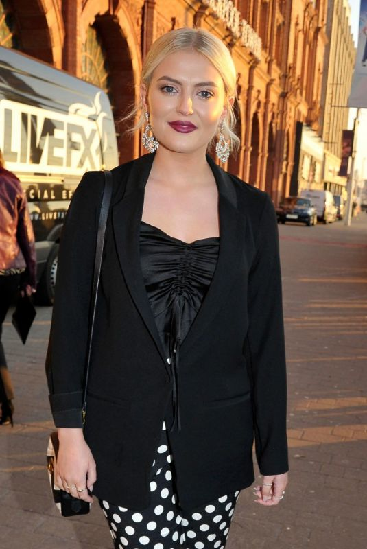 Lucy Fallon Arriving At Blackpool Tower for Strictly Come Dancing Live Special