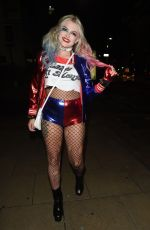 Lucy Fallon At The Mirror Ball Halloween Party in Manchester