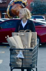 Malin Akerman Gets some last minute shopping done for Thanksgiving in LA