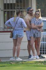 Margot Robbie Hits the golf course for a round with Tom Ackerley and friends in LA