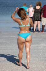 Maria Jade At the beach with friends in Miami