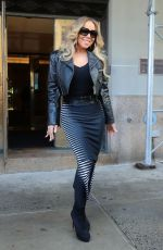 """Mariah Carey Heads out to promote her new album """"Caution"""" which is released today in New York City"""