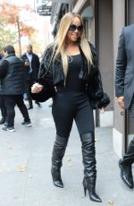 Mariah Carey Leaves the Electric Lady Studios in New York City