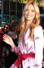 Martha Hunt Arrives at Good Morning America in New York