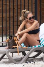 Megan McKenna Enjoying a poolside drink in Queensland