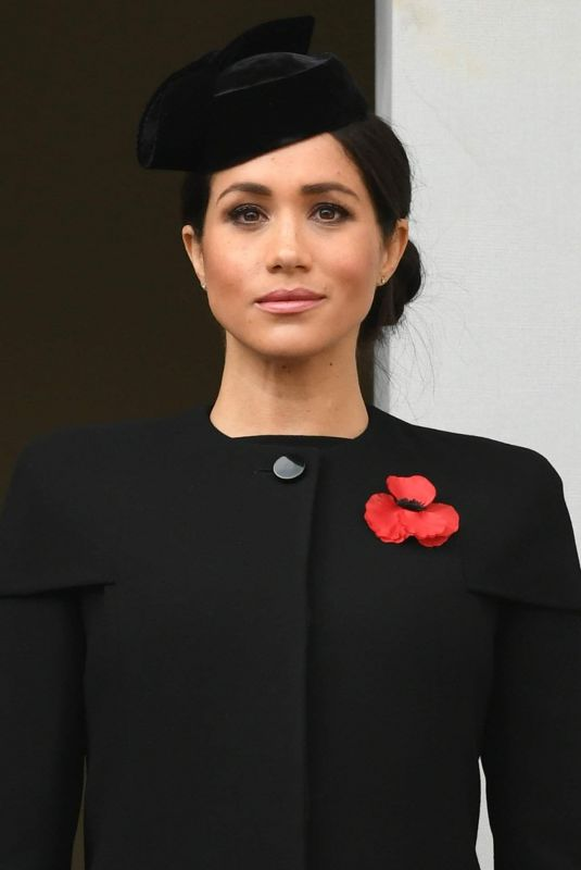 Meghan Markle At Annual Remembrance Sunday Memorial in London