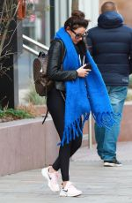 Michelle Keegan Wraps up warm as she