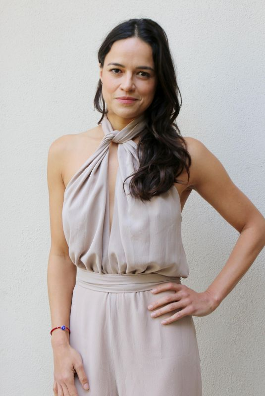 Michelle Rodriguez Attends Press Conference for Widows, Los Angeles