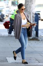 Minka Kelly Grabs a smoothie in Los Angeles