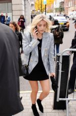 Mollie King Arriving at BBC Broadcasting House in London