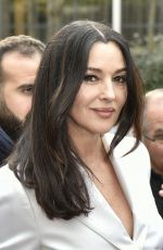 Monica Bellucci Arriving at recording for Vivement Dimanche TV show in Paris