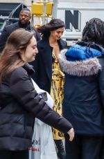 Morena Baccarin Outside the AOL Build Series studios in New York City