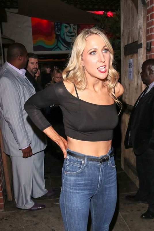 Nikki Glaser Outside the Abbey Nightclub in West Hollywood