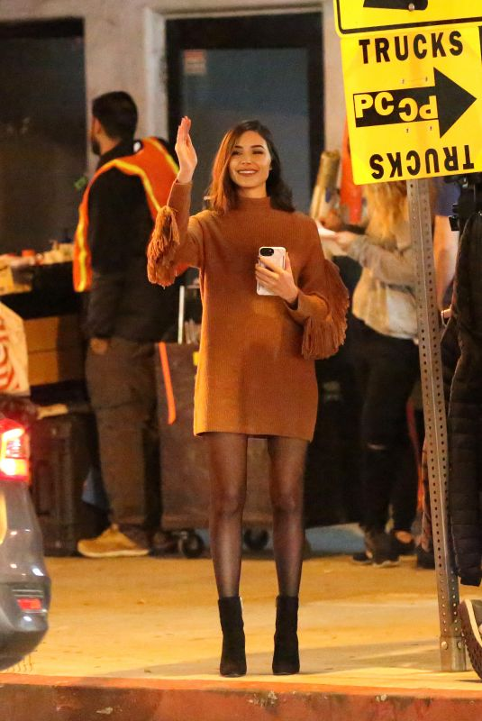 Olivia Culpo On the set of her latest project in Los Angeles
