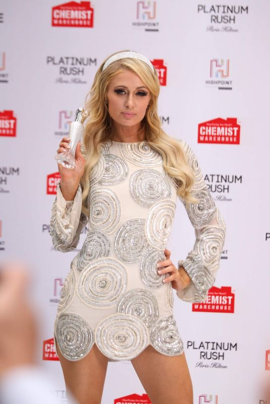 Paris Hilton Attends the launch of her new fragrance Platinum Rush in Melbourne