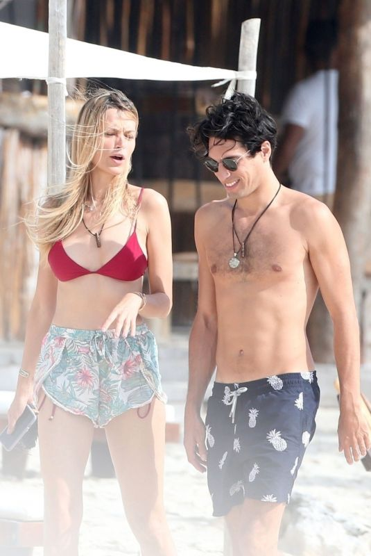 Petra Nemcova Packing on the PDA with her boyfriend while on holiday in Tulum, Mexico