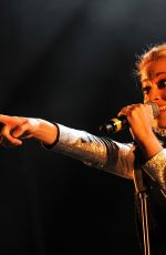 Pixie Lott Performing At City of Perth Christmas Lights in Perth