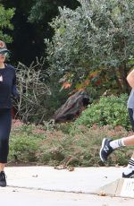 Reese Witherspoon Heads out for a workout jogging with her son in Santa Monica