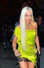 Rita Ora In yellow as she heads to the Victoria