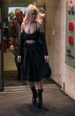 Rita Ora Leaving BBC Radio One Studios after performing on the Live Lounge in London