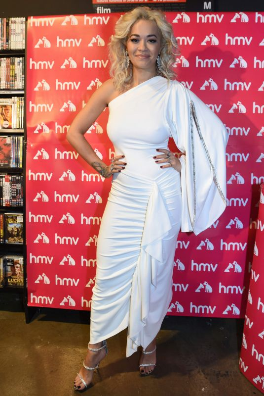 Rita Ora Signing copies of her new album Phoenix for fans at Liverpool One