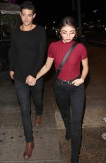 Sarah Hyland Leaving the Abbey Nightclub in West Hollywood