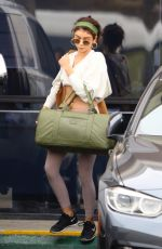Sarah Hyland Outside a gym in Los Angeles