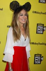 "Sarah Jessica Parker At Grand Opening of ""Mickey: The True Original Exhibition"" in New York"