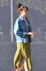 Shailene Woodley Films an untitled Drake Doremus project at a pawn shop in Los Angeles