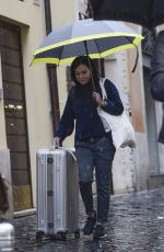 Shannen Doherty Leaving her hotel in Rome