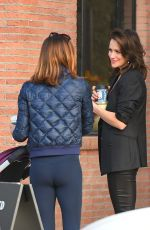 Shantel VanSanten Goes to Alfred Coffee with her friends in Los Angeles