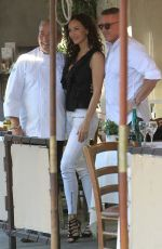 Sofia Milos Outside a restaurant in Beverly Hills
