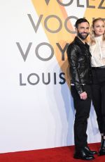 Sophie Turner At Louis Vuitton Volez Voguez Voyagez Exhibition in Shanghai, China