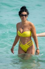 Suelyn Medeiros With Hofit Golan during a relaxing beach day in Miami
