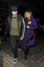 Suki Waterhouse & Robert Pattinson Trying to sneak out of The Chiltern Firehouse in London