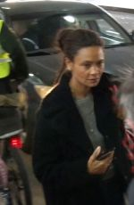 Thandie Newton At LAX
