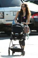 Troian Bellisario Takes her daughter to her local polling place in Los Angeles
