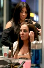 Tulisa Contostavlos Gets a blow dry at Blown USA salon in Beverly Hills