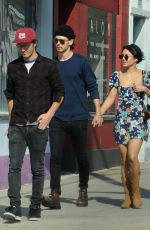 Vanessa Hudgens and boyfriend Austin Butler on a romantic stroll at the trendy Atwater Village in Los Angeles