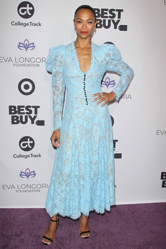 Zoe Saldana At Eva Longoria Foundation dinner gala, Los Angeles
