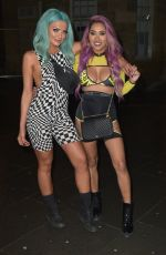 Abbie Holborn and Zahida Allen enjoy night out in Newcastle